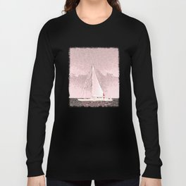 """Sailboat #8"" Art of the Sea by Murray Bolesta Long Sleeve T-shirt"