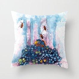 spring feeling Throw Pillow