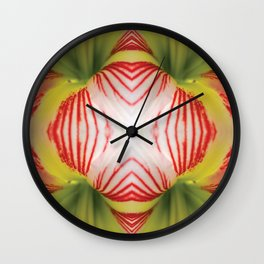 Zebra Flower Wall Clock