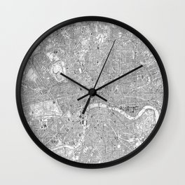 London Old Map Wall Clock