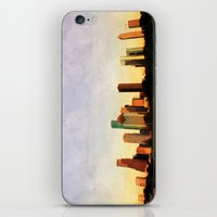 houston iPhone & iPod Skins featuring Houston Skyline by Tracy Carlson Photography