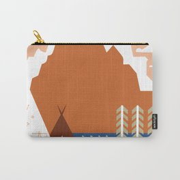 Vintage Montana Travel - See America Carry-All Pouch