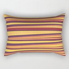 Happy Horizontal Lines Rectangular Pillow