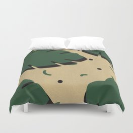 Monstera leaf 1 Duvet Cover