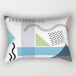 Geometric abstract art, pastel tones shapes and dots print Rectangular Pillow