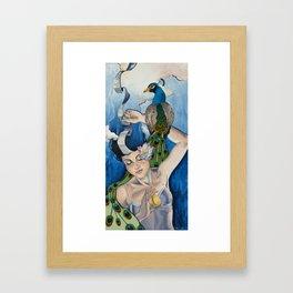 Muse- Blue Framed Art Print