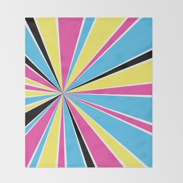 CMYK Star Burst Throw Blanket