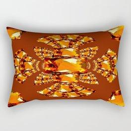 Imperial Golden Topaz gems Jewelry designs Rectangular Pillow