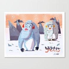 :::Happy Yetis::: Canvas Print