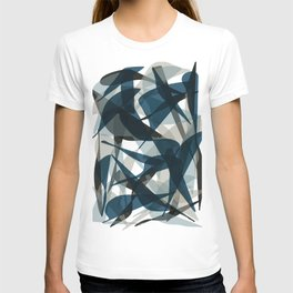 Abstract Whale Monotone T-shirt