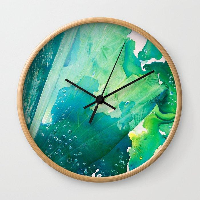 Environmental Importance, Deep Sea Water Bubbles Wall Clock
