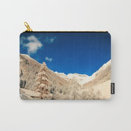 Sunny day in the alps after the snowfall Carry-All Pouch