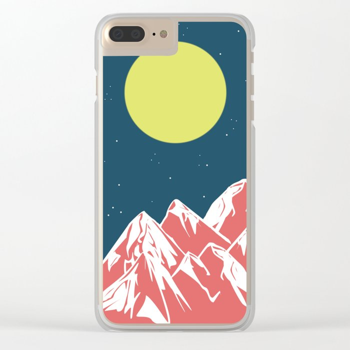 galactic mountains Clear iPhone Case