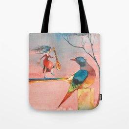 In dreams Fairy tale Colorful Bird Tote Bag