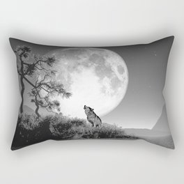 The baying of wolves Rectangular Pillow