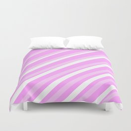 Pink Stripes Duvet Cover