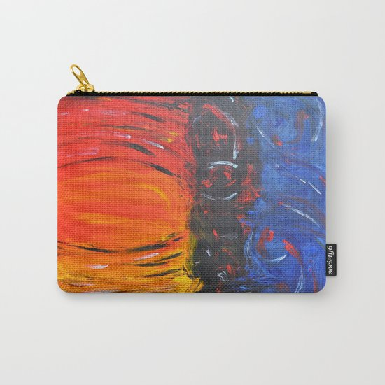 RED AND BLUE AND WARM AND COOL ABSTRACT Carry-All Pouch