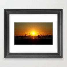 Sunset Couple Framed Art Print
