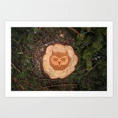 Deforestation Faces - Owl Art Print