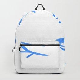 Pastel Blue Elegant Feminine Woman Kind Minimalist Line Drawing Faces Backpack