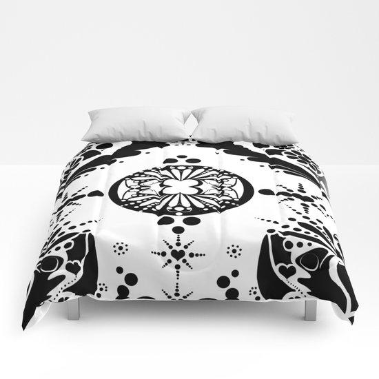 black pattern 8 Comforters