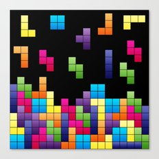 Tetris Troubles. Canvas Print