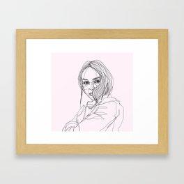 Lily-Rose Depp Framed Art Print