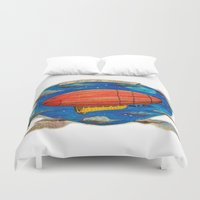 led zeppelin Duvet Covers featuring Zeppelin by sugu