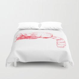 Red Panda Yawning Duvet Cover