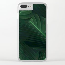 Banana palm greens tropical forest Clear iPhone Case