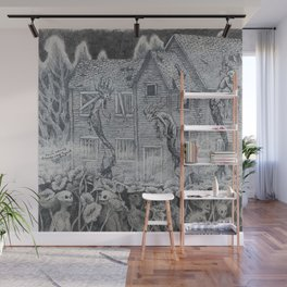 Lotus Teeth (collaboration with Kevin Newell of Evergreen Illustration) Wall Mural