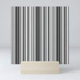 Barcode Pattern Mini Art Print
