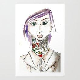 alternative girl Art Print