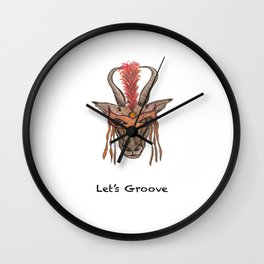 LET'S GROOVE Wall Clock