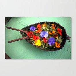 Flowery salad Canvas Print
