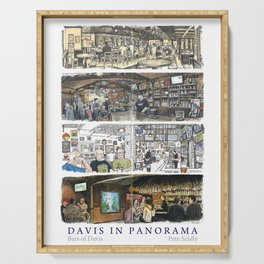 Davis Panorama Poster: Bars of Davis Serving Tray