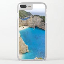 Navagio Beach with Shipwreckon Zakynthos Island, Greece Clear iPhone Case