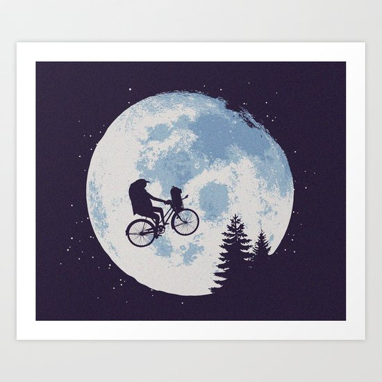 Journey To The Moon Art Print