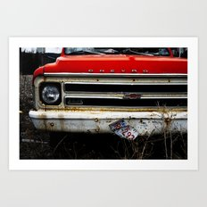 Abandon Chevy Art Print