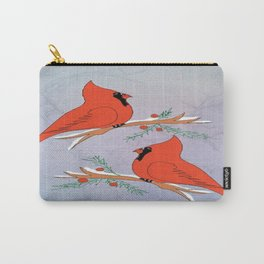 """Two Cardinals And Berries"" Carry-All Pouch"