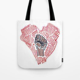 Untitled (Heart Fist) Tote Bag