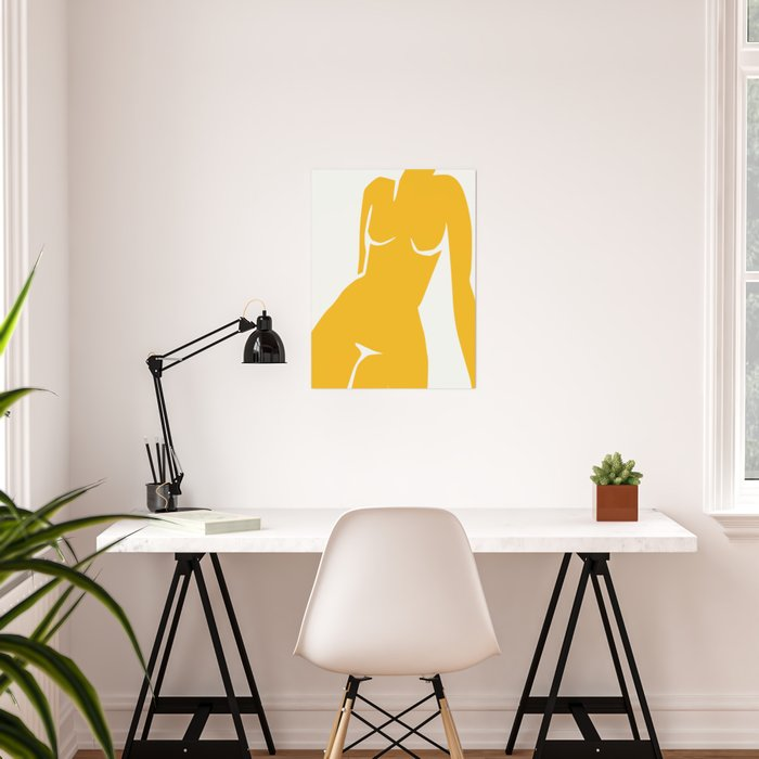 Cubism in nude Poster