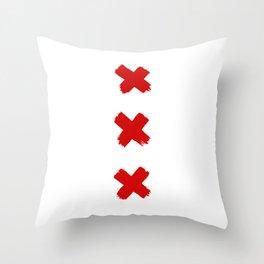 Amsterdam Crosses Throw Pillow