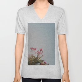 Minimalist Flora Unisex V-Neck