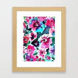 Zoe Floral Pink Framed Art Print