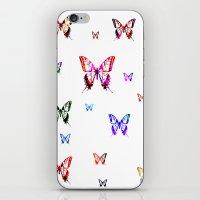 butterflies iPhone & iPod Skins featuring Butterflies. by haroulita