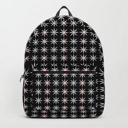 Vintage Sun Shine Pattern - Pink Grey Black Backpack