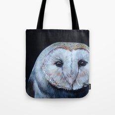 Dark Barn Owl Tote Bag