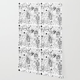 Antique Magic Starter Pack Black and White Wallpaper