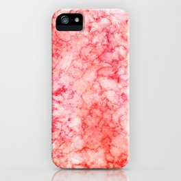 Blush Pink Coral & Peach Marble Watercolor Texture iPhone Case